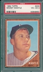 1962 Topps #200 Mickey Mantle PSA 4