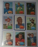 1960 Topps FB Lot of (60) W/ Hornung
