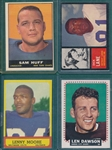 1961-64 Topps FB Lot of (142) W/ 1961 Sam Huff