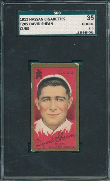 1911 T205 Shean, Cubs, Hassan Cigarettes SGC 35 *SP*