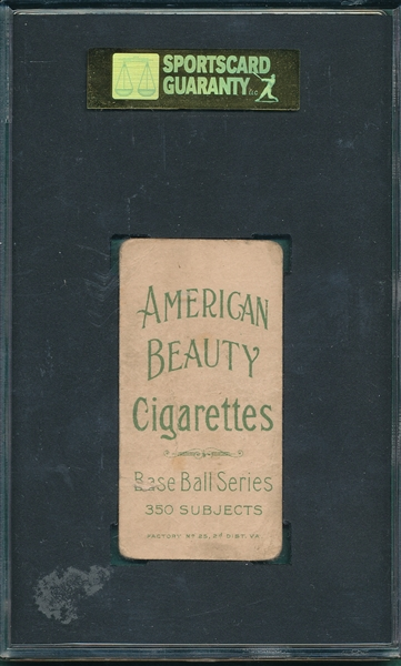 1909-1911 T206 Griffith, Batting, American Beauty Cigarettes SGC 10