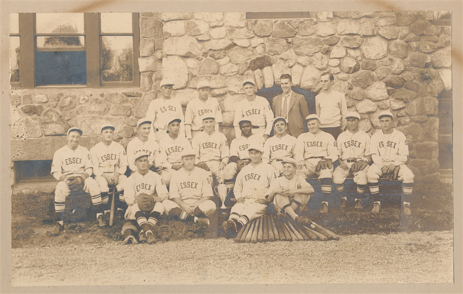 1910s Cabinet Photo, Essex Integrated Baseball Team