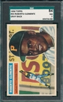 1956 Topps #33 Roberto Clemente SGC 84 *Solid Centering*