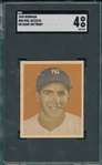 1949 Bowman #98 Phil Rizzuto, No Name On Front, SGC 4 *Presents Better*