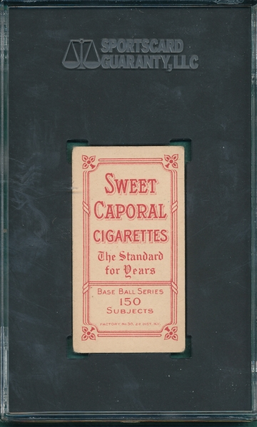 1909-1911 T206 Tinker, Hands on Knees, Sweet Caporal Cigarettes SGC 3