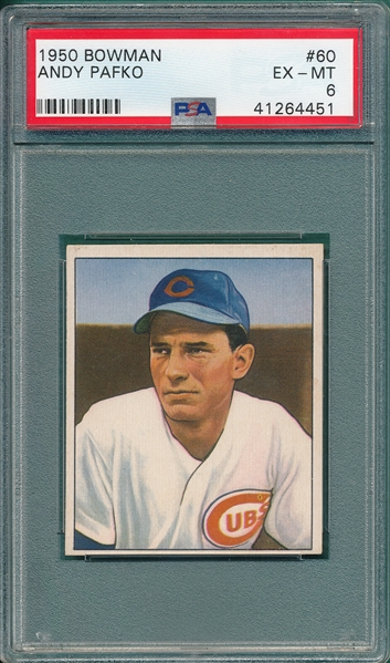 Lot Detail 1950 Bowman 60 Andy Pafko Psa 6 Sp