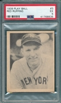 1939 Play Ball #3 Red Ruffing PSA 5