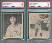 1939 Play Ball #32 Seeds & #45 May, Lot of (2), PSA 5