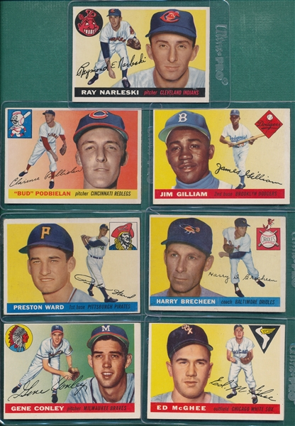 1955 Topps Lot of (11) W/ Gilliam
