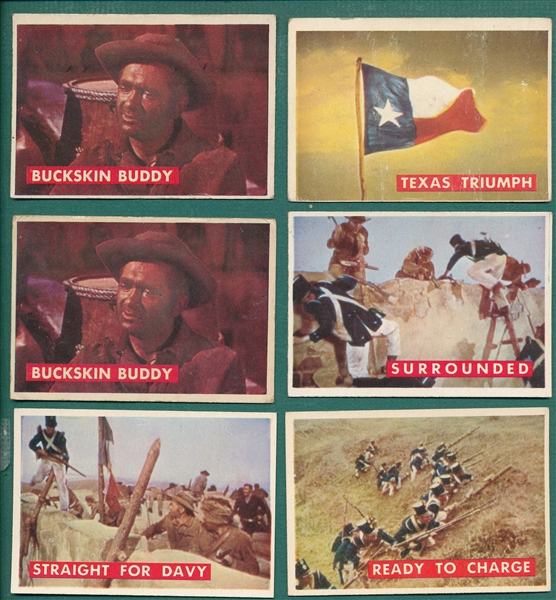 1956 Topps Davy Crockett, Green, Lot of (127)
