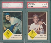 1963 Fleer Baseball Near Complete Set (66/67) W/ Koufax PSA 7