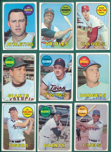 1969 Topps Baseball Complete Set (664) W/ Mantle, Ryan & Jackson PSA