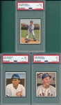 1950 Bowman #2 Stephens, #24 Schmitz & #60 Pafko. Lot of (3) PSA *SP*