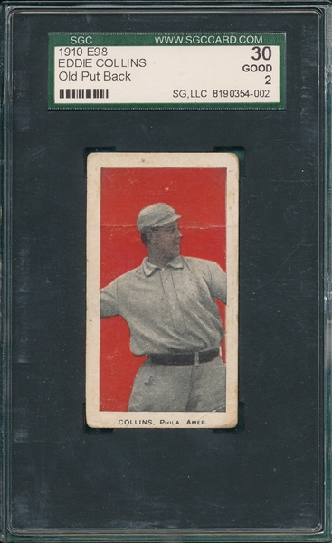 1910 E98 Eddie Collins, Old Put Back, SGC 30
