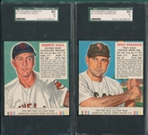 1952 Red Man Avila, Porterfield & Robinson, Lot of (3) W/Tab SGC 60