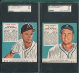 1952 Red Man Joost & Zernial, Lot of (2) W/Tab SGC 70