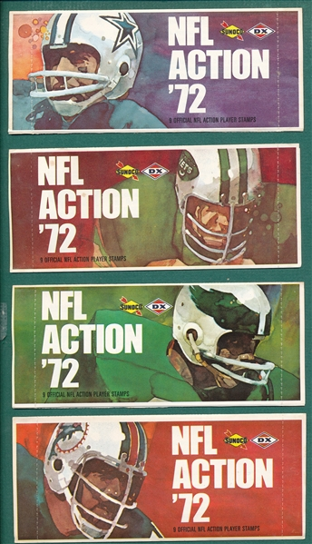 1972 Sunoco/DX NFL Stamps, Unopened, Lot of (30)