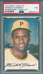 1972 Daily Juice Roberto Clemente PSA 7
