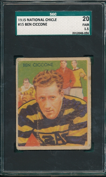 1935 National Chicle FB #15 Ben Ciccone SGC 20