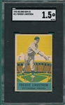 1933 DeLong #11 Freddie Lindstrom SGC 1.5 *Presents Much Better*