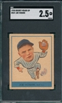 1938 Goudey Heads Up #247 Joe Vosmik SGC 2.5 *Presents Much Better*
