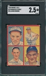 1935 Goudey 4 In 1 #7B Mahaffey/Foxx/Williams/Higgins SGC 2.5
