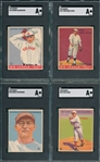 1933 Goudey Lot of (4) W/ #16 Blaeholder SGC Authentic