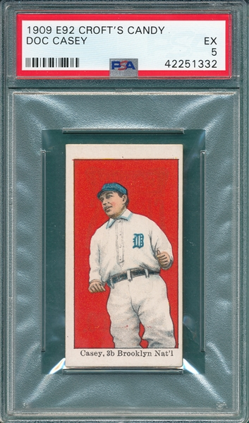 1909 E92 Doc Casey Croft's Candy PSA 5 *Highest Graded*