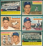1956 Topps Lot of (6) W/ Ford