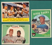 1958-60 Topps Lot of (14) W/ Aaron & Mays