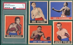 1948 Leaf Boxing Lot of (5) W/ Attell & PSA