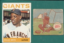 1949 M & P Berra & 1964 Topps #150 Mays, Lot of (2)