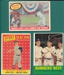 1958-63 Topps Mickey Mantle, Lot of (3)