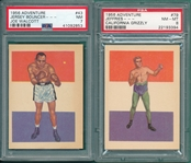 1956 Adventure Boxers Lot of (6) W/ Walcott PSA 7