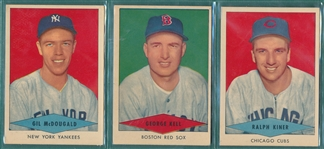 1954 Red Heart Lot of (11) W/ Kiner *Crease Free*