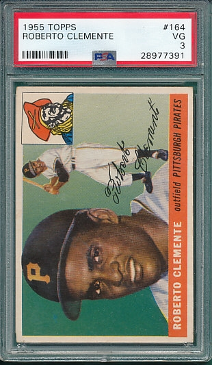 1955 Topps #164 Roberto Clemente PSA 3 *Rookie* *Presents Much Better*