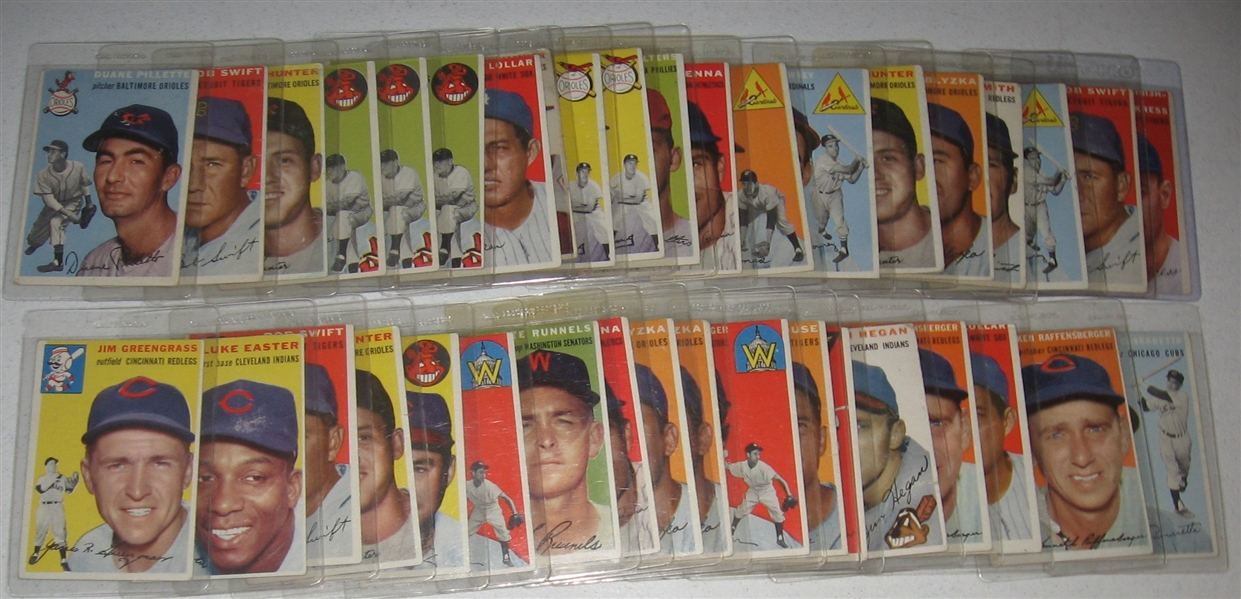 1954 Topps Lot of (40) W/ Doby