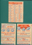 1956 Topps FB Checklist & (2) Contest Cards, Lot of (3)