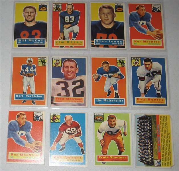 1956 Topps FB Lot of (60) W/ Fears