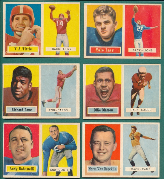 1957 Topps FB Lot of (87) W/ Richard Lane