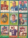 1958-63 Topps FB Lot of (188) W/ 1963 Lilly