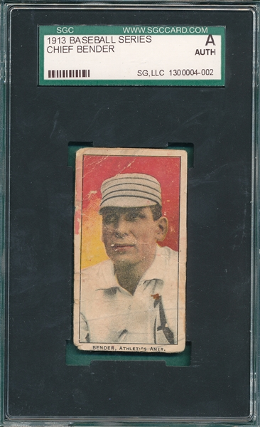 1913 Baseball Series Chief Bender SGC Authentic