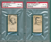 1947 Peerless Scales Clark Gable PSA 6 & Roy Rogers PSA 8, Lot of (2)