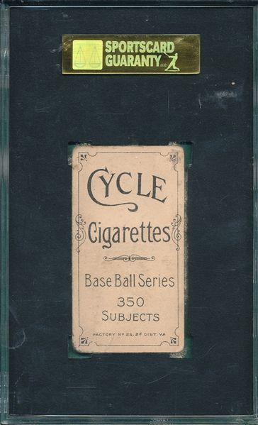 1909-1911 T206 Evers, Chicago On Shirt, Cycle Cigarettes, SGC 30 *350 Series*