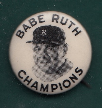 Babe Ruth Pinbacks Lot of (4) W/ PM10