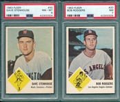 1963 Fleer Lot of (4) W/ #30 Stenhouse PSA 8