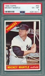 1966 Topps #050 Mickey Mantle PSA 6