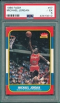 1986-87 Fleer Basketball Complete Set  W/ Jordan, Rookie, PSA 5