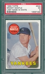 1969 Topps #500 Mickey Mantle PSA 5 *White Letters*