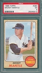 1968 Topps #280 Mickey Mantle PSA 5